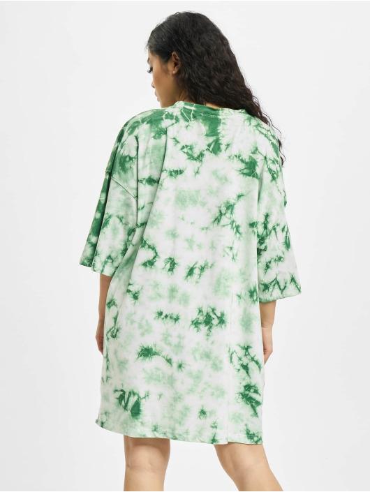 Missguided Klänning Tie Dye Oversized grön