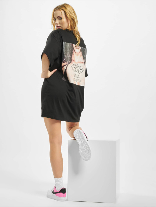 Missguided Klänning Oversized Shortsleeve T-Shirt Heaven Sent svart