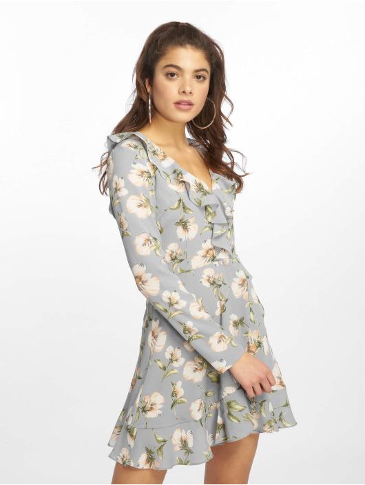 Missguided Kleid Floral Ruffle Tea blau