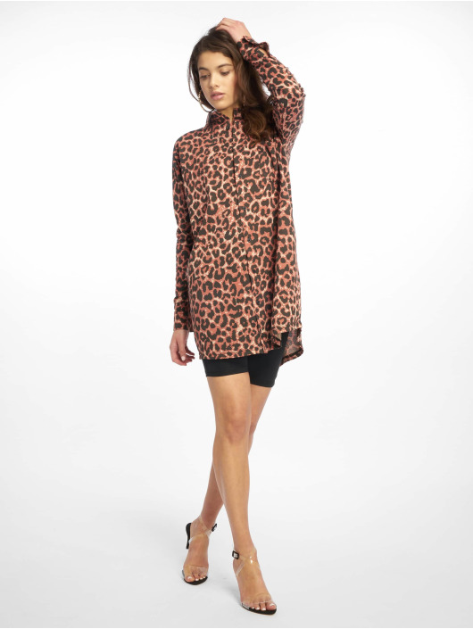 Missguided Kleid Oversized Jersey braun