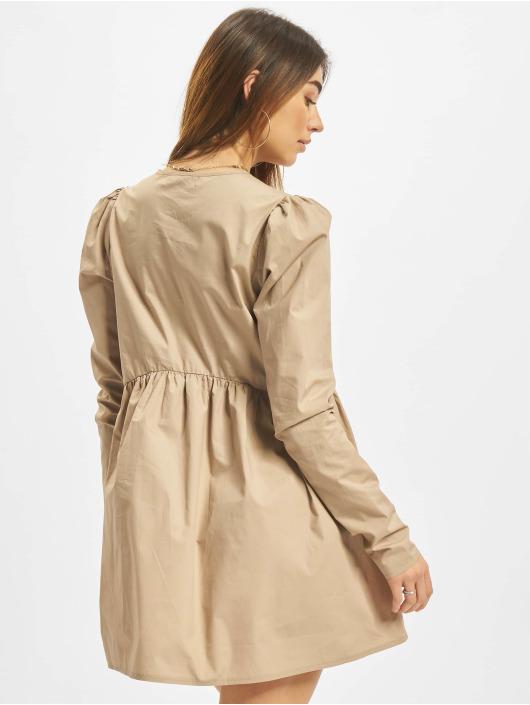 Missguided Kleid Poplin V Neck Button Front Smock braun