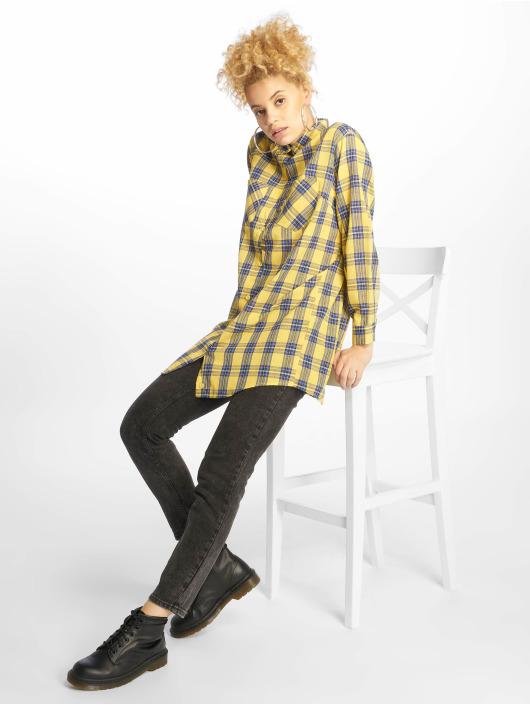 Missguided Kleid Oversized Shirt gelb