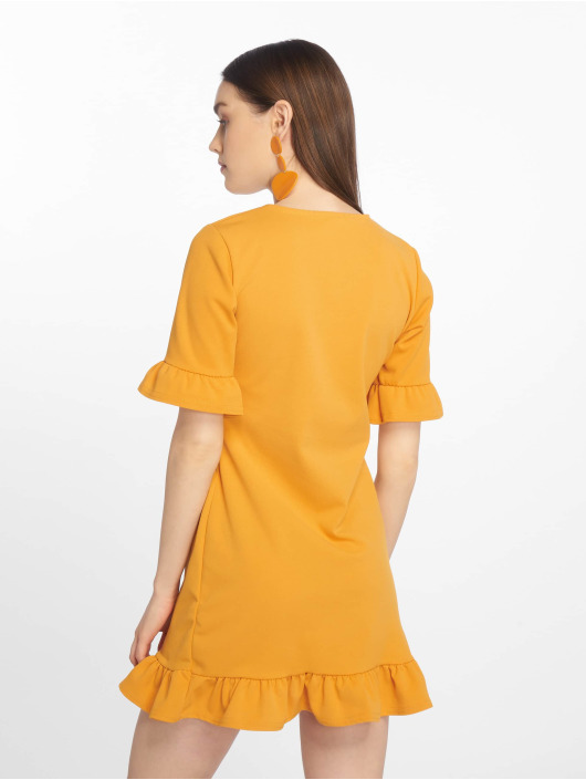 Missguided Kleid Frill Detail Shift gelb