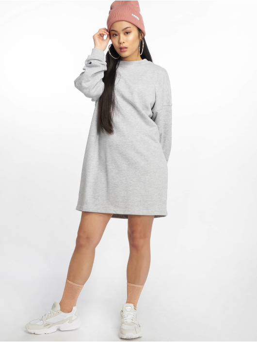 Missguided Kleid Crew Neck Longline grau