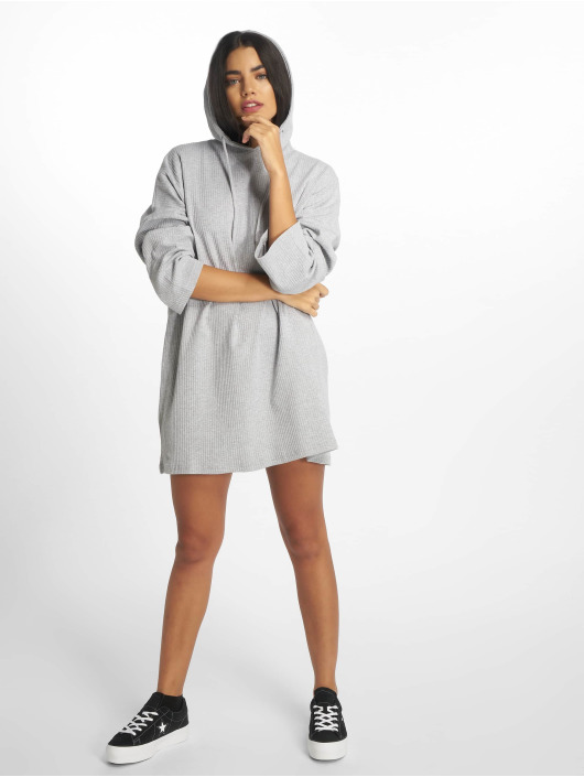 Missguided Kleid Oversized Hooded Sweater grau