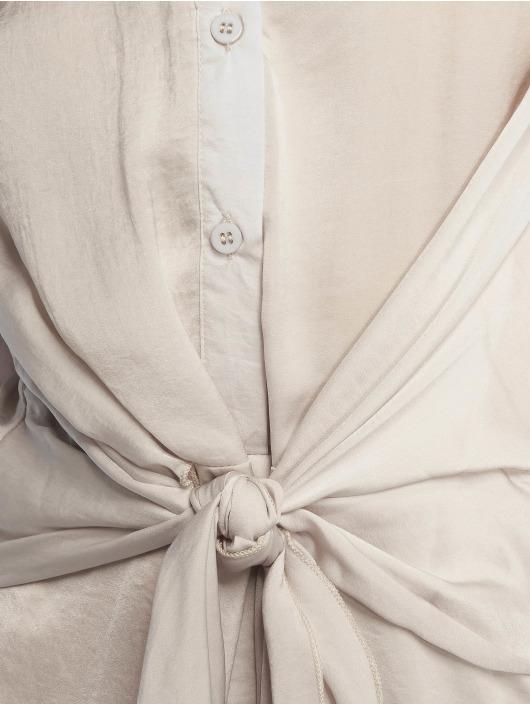 Missguided Kleid Tie Waist grau