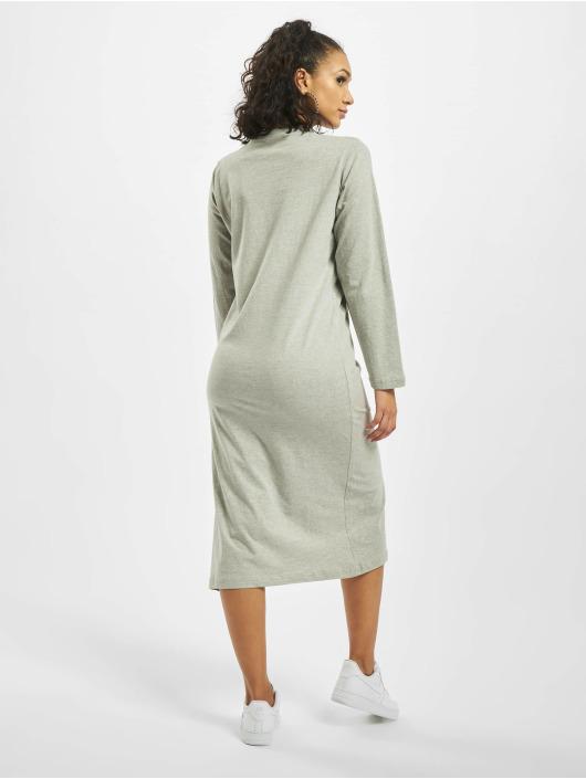 Missguided Kleid Basic Longsleeve T-Shirt Midi grau
