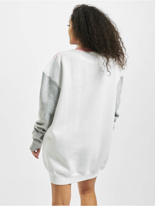 Missguided Kleid Colour Block Sweater Triangle grau
