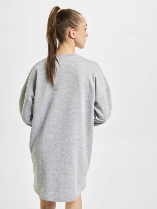 Missguided Kleid Oversized Sweater grau