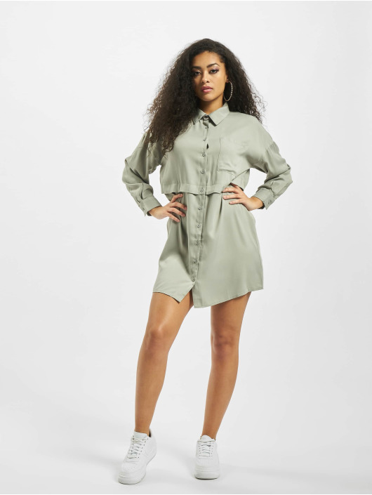 Missguided Kleid Utility grün