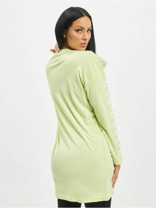 Missguided Kleid Oversized Longsleeve T-Shirt Branded grün