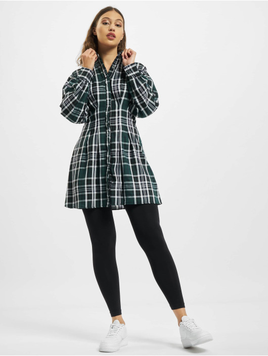 Missguided Kleid Pleated Waist Shirt grün
