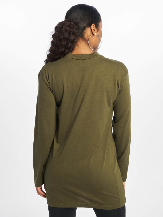 Missguided Kleid Long Sleeve olive