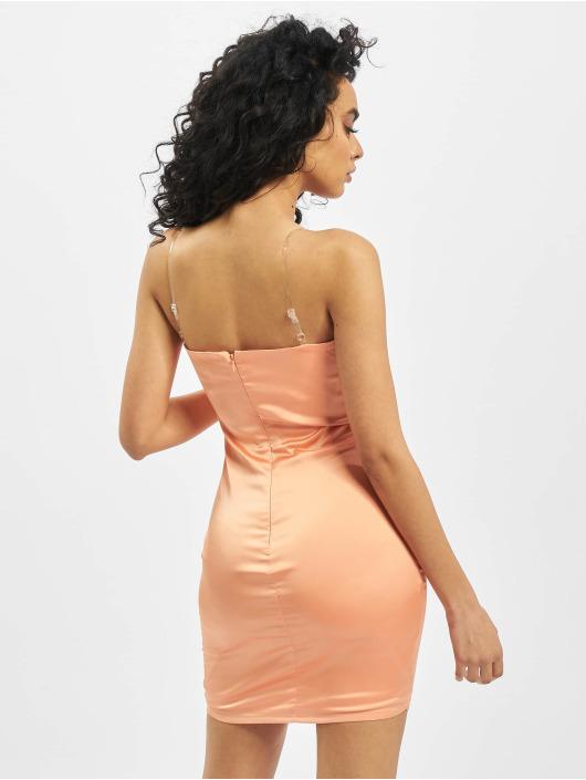 Missguided Kleid Stretch Satin Clear Strap orange