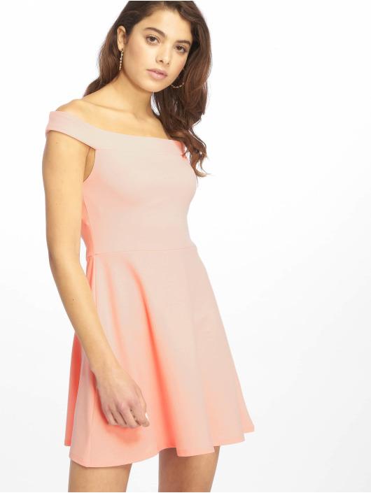 Missguided Kleid Bardot Skater rosa