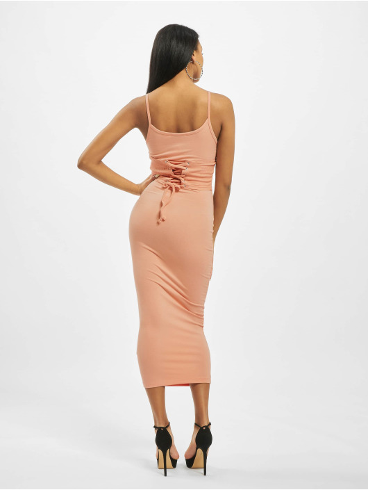 Missguided Kleid Rib Underbust Corset rosa