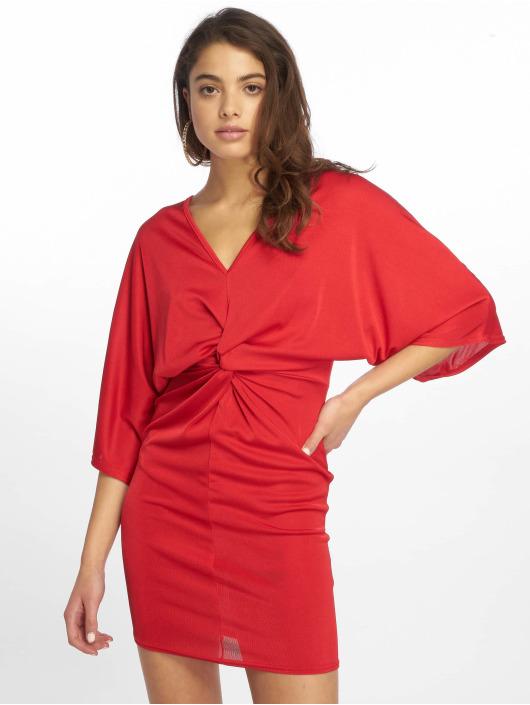 Missguided Kleid Kimono Sleeve Twist rot