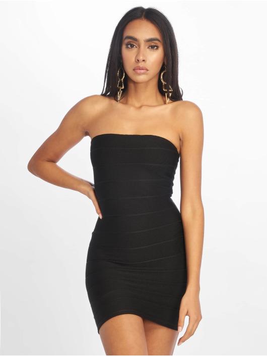 Missguided Kleid Bandage Bandeau Mini schwarz