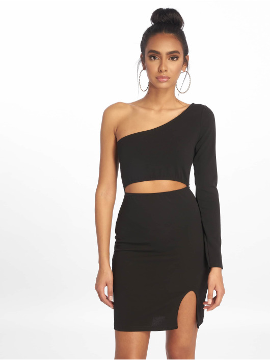 Missguided Kleid One Shoulder Cut Out Mini schwarz