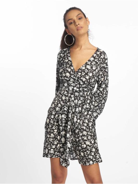 Missguided Kleid Wrap Side Tea schwarz