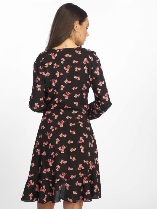 Missguided Kleid Floral Frill schwarz