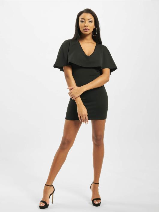 Missguided Kleid Cape V Neck Bodycon Mini schwarz