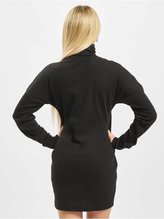 Missguided Kleid Oversized Ribbed Roll Neck schwarz