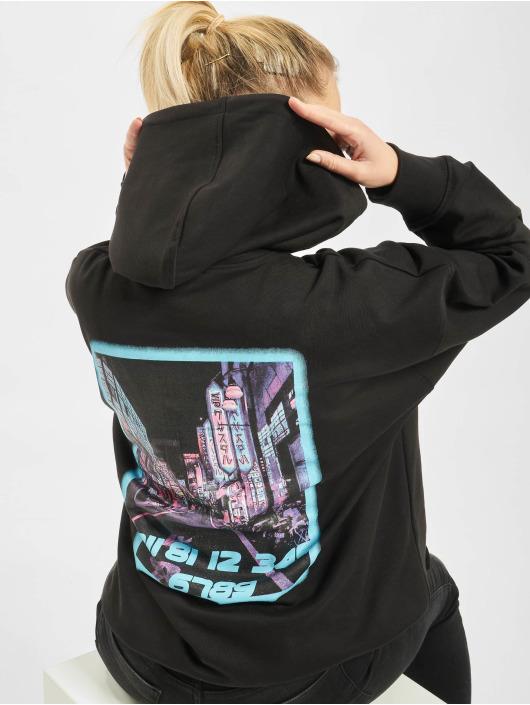 Missguided Kleid Petite Tokyo Graphic Hoodie schwarz