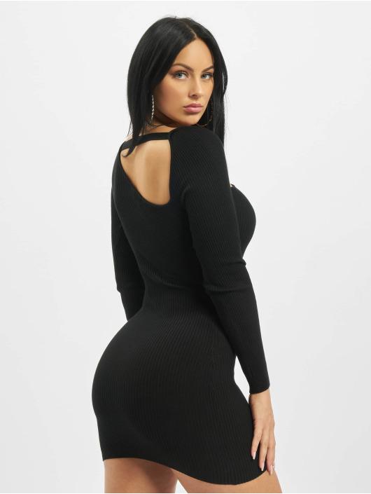 Missguided Kleid Asymmetric Neck schwarz