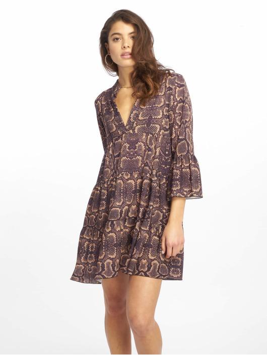 Missguided Kleid Long Sleeve Smock Snake violet