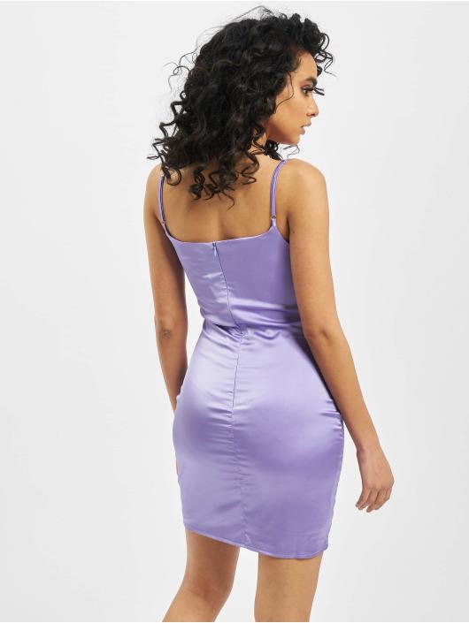 Missguided Kleid Stretch Satin Bodycon Mini violet