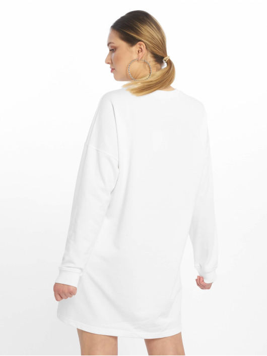 Missguided Kleid Basic Sweater weiß