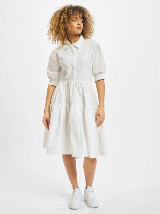 Missguided Kleid Extreme Oversized Shirt Smock weiß
