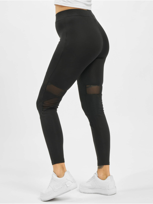 Missguided Legging Cut Out Mesh Insert noir