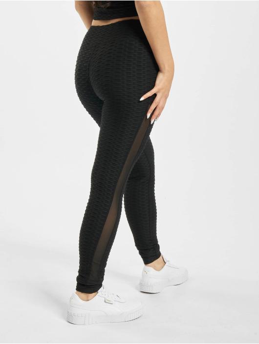 Missguided Legging Textured Cut & Sew noir
