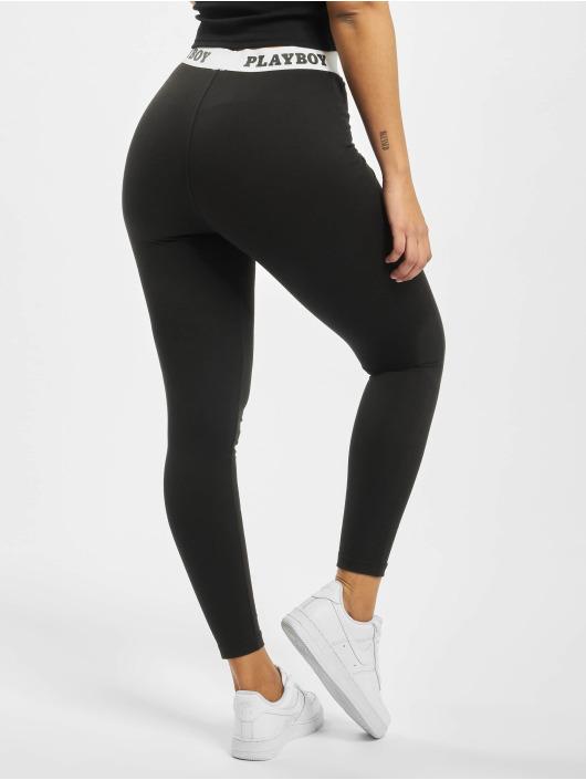 Missguided Legging/Tregging Playboy Slogan Waistband black