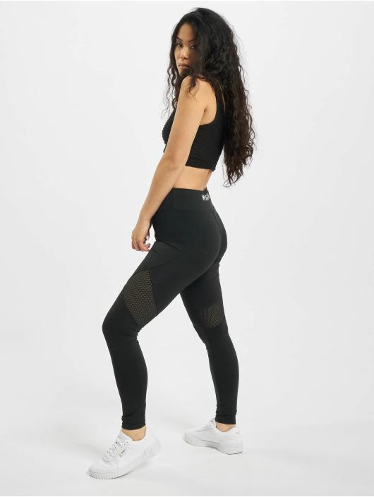 Missguided Legging/Tregging Airtex Panelled negro
