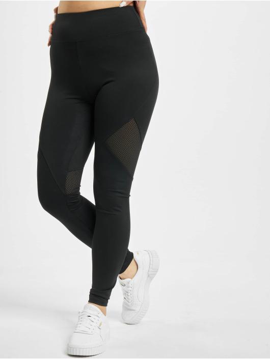 Missguided Leggings Airtex Panelled nero