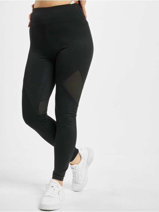 Missguided Leggings Airtex Panelled svart