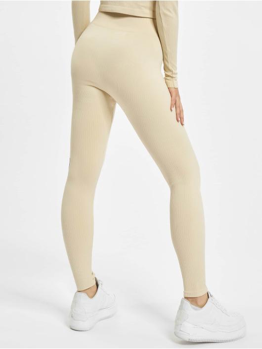 Missguided Leggings/Treggings Seamless Rib beige