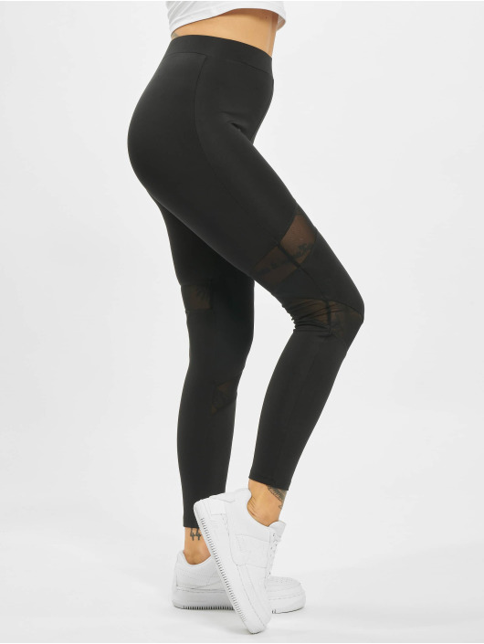 Missguided Leggings/Treggings Cut Out Mesh Insert black