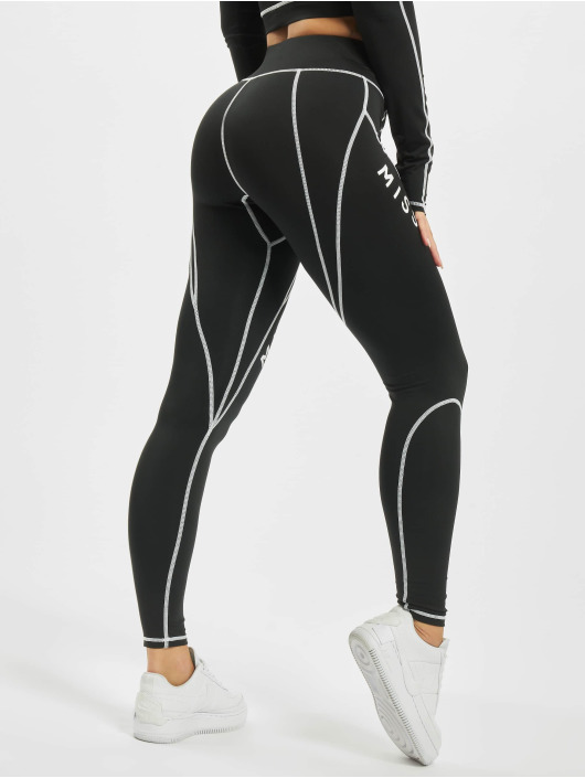 Missguided Leggings/Treggings Panel Contrast black