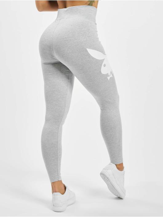 Missguided Leggings/Treggings Playboy Bunny Lounge grå
