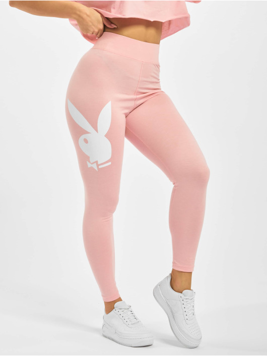 Missguided Leggings/Treggings Playboy Bunny Lounge rózowy