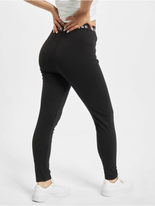 Missguided Leggings/Treggings Petite Msgd Waistband sort