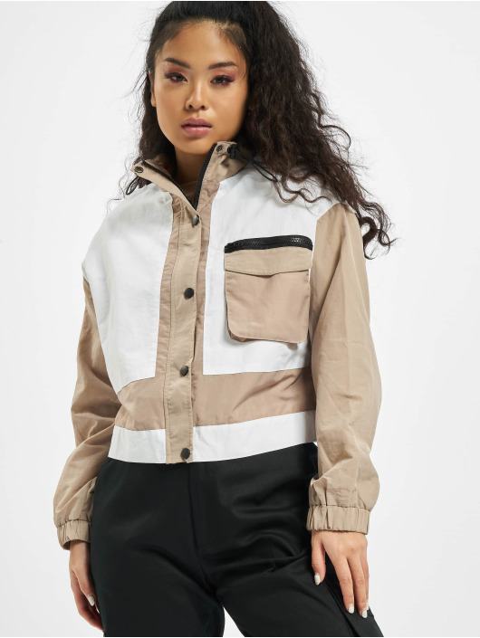 Missguided Lightweight Jacket Tonal Colourblock Co Ord beige