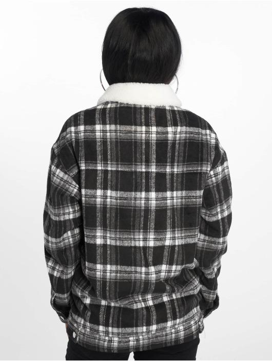 Missguided Lightweight Jacket Check Trucker black