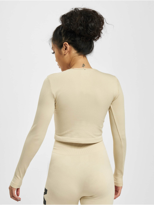Missguided Longsleeves Seamless Rib bezowy