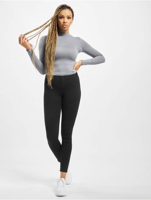 Missguided Longsleeves Funnel Neck szary