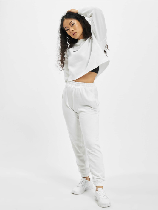 Missguided Maglia Petite Branded Cropped bianco